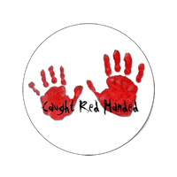 Caught red-handed logo